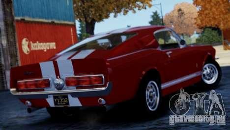 Shelby Cobra GT500 1967 для GTA 4 вид справа