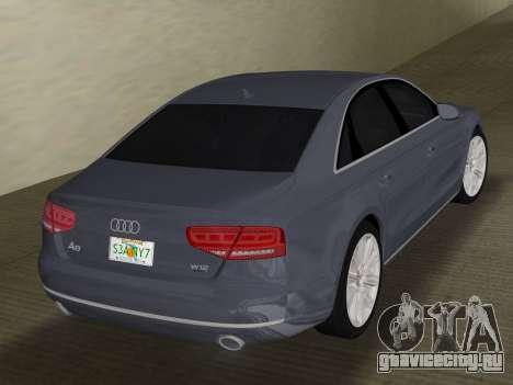 Audi A8 2010 W12 Rim1 для GTA Vice City вид справа