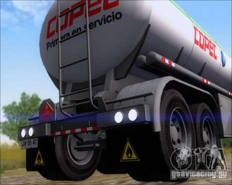 Прицеп цистерна Carro Copec для GTA San Andreas вид сзади