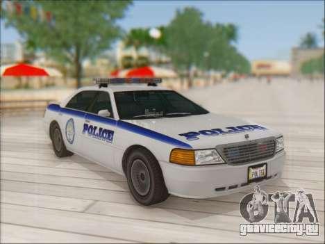 Admiral Police для GTA San Andreas вид изнутри