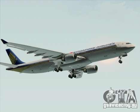 Airbus A330-300 Singapore Airlines для GTA San Andreas вид изнутри