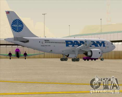 Airbus A310-324 Pan American World Airways для GTA San Andreas колёса