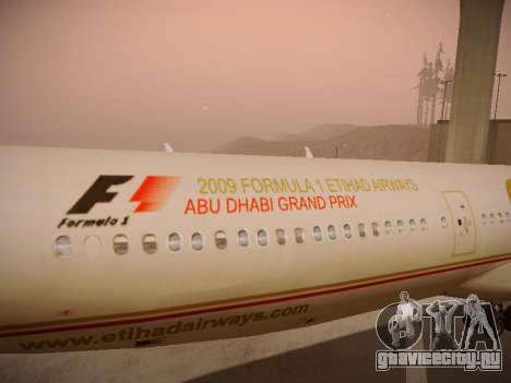 Airbus A340-600 Etihad Airways для GTA San Andreas двигатель
