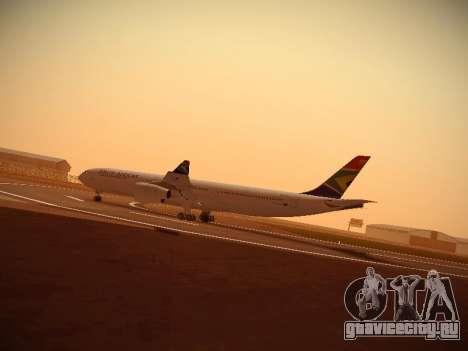 Airbus A340-300 South African Airways для GTA San Andreas вид слева