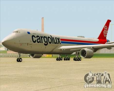 Boeing 747-8 Cargo Cargolux для GTA San Andreas вид сбоку
