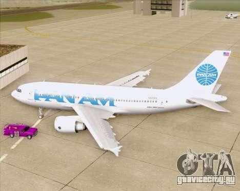 Airbus A310-324 Pan American World Airways для GTA San Andreas вид изнутри