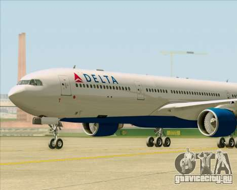 Airbus A330-300 Delta Airlines для GTA San Andreas вид изнутри