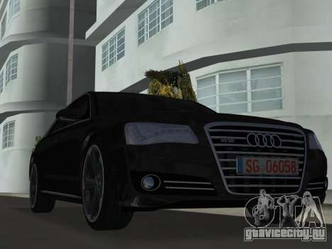 Audi A8 2010 W12 Rim6 для GTA Vice City вид слева