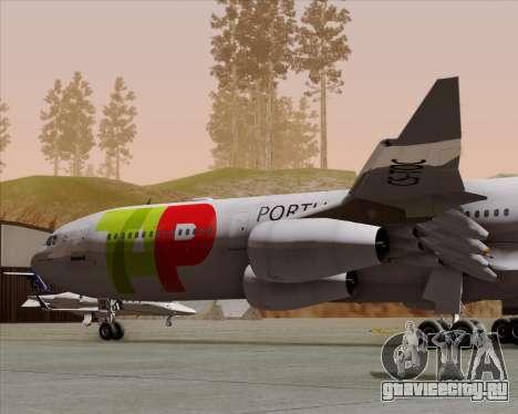 Airbus A340-312 TAP Portugal для GTA San Andreas вид сбоку