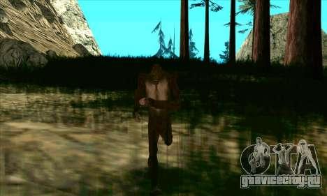 Снежный человек (Bigfoot) на горе Чилиад для GTA San Andreas третий скриншот