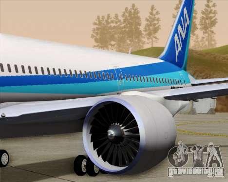 Boeing 787-9 All Nippon Airways для GTA San Andreas колёса