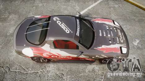 Mazda RX-7 Cusco для GTA 4 вид справа