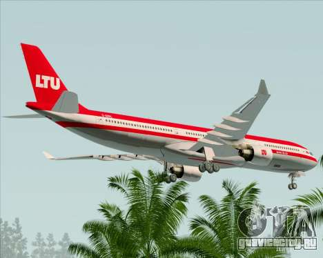 Airbus A330-300 LTU International для GTA San Andreas колёса