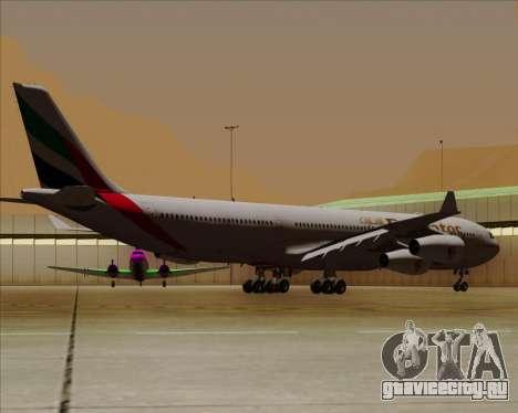 Airbus A340-313 Emirates для GTA San Andreas вид сзади