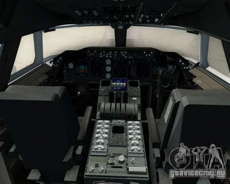 Boeing 747-8 Cargo Cathay Pacific Cargo для GTA San Andreas салон