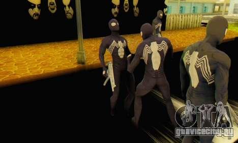 Skin The Amazing Spider Man 2 - Suit Symbiot для GTA San Andreas третий скриншот