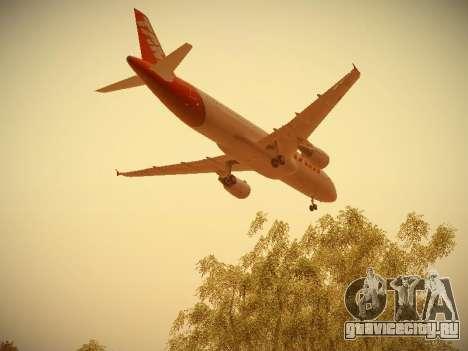 Airbus A320-214 TAM Airlines для GTA San Andreas вид снизу