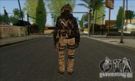 Task Force 141 (CoD: MW 2) Skin 14 для GTA San Andreas второй скриншот