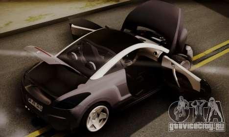 Peugeot RCZ для GTA San Andreas вид сзади