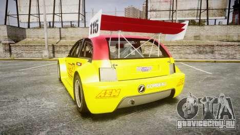 Zenden Cup AEM для GTA 4 вид сзади слева
