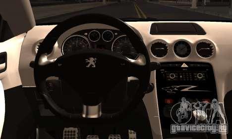 Peugeot RCZ для GTA San Andreas вид сзади слева
