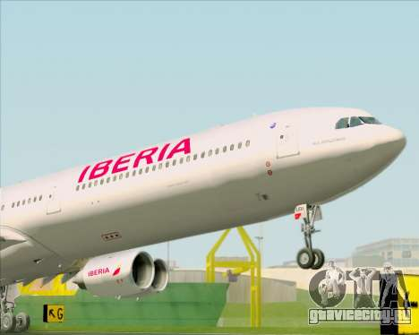 Airbus A340-642 Iberia Airlines для GTA San Andreas вид сзади