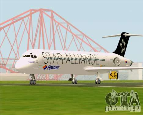 McDonnell Douglas MD-82 Spanair для GTA San Andreas вид сзади