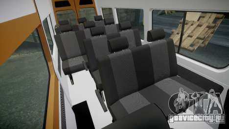 Mercedes-Benz Sprinter 313 cdi для GTA 4 вид изнутри