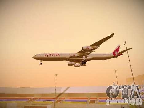 Airbus A340-600 Qatar Airways для GTA San Andreas вид снизу