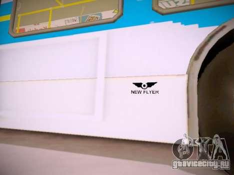 NewFlyer D40LF TransLink Vancouver BC для GTA San Andreas вид снизу