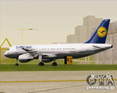 Airbus A320-211 Lufthansa для GTA San Andreas вид сзади слева