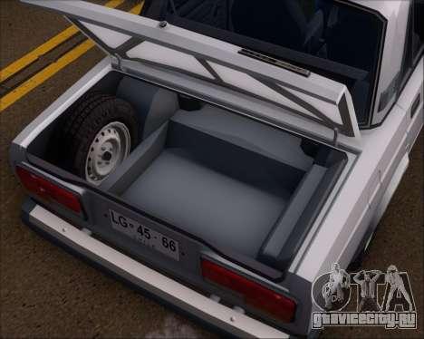 LADA 2107 для GTA San Andreas вид сбоку
