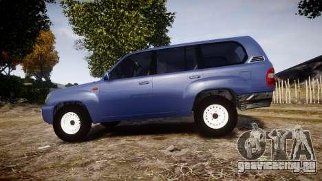Toyota Land Cruiser для GTA 4 вид слева