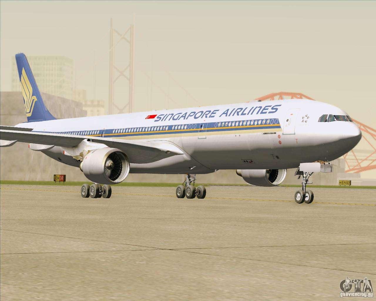 Обои авиалайнер, Singapore airlines, airbus, Самолёт, 300. Авиация foto 10