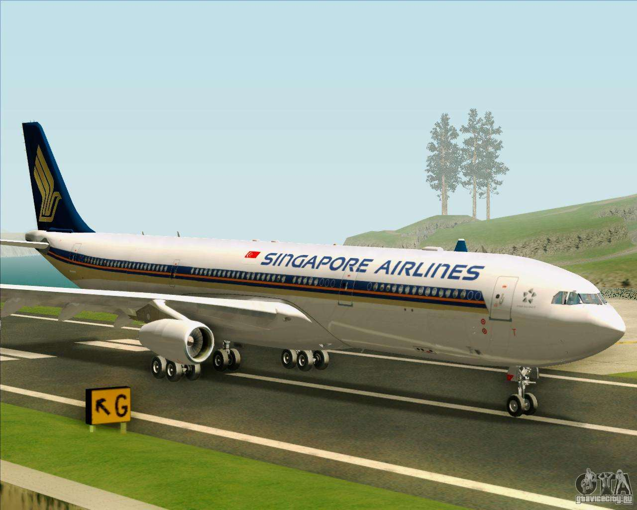 Обои авиалайнер, Singapore airlines, airbus, Самолёт, 300. Авиация foto 9