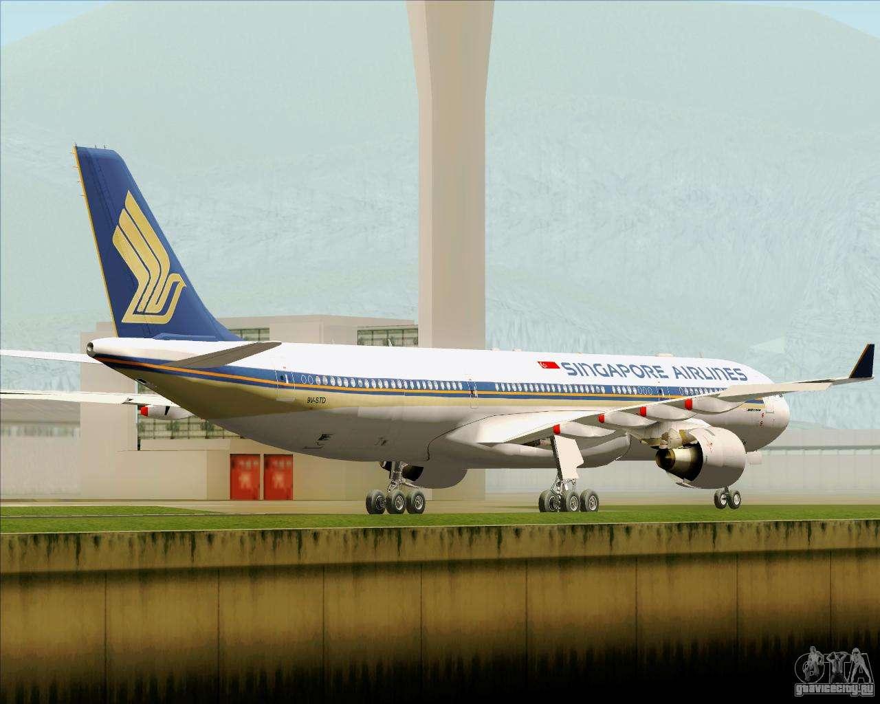 Обои авиалайнер, Singapore airlines, airbus, Самолёт, 300. Авиация foto 14