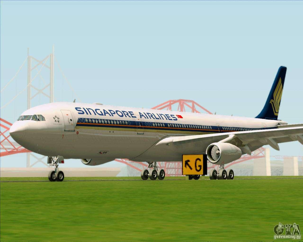Обои авиалайнер, Singapore airlines, airbus, Самолёт, 300. Авиация foto 7