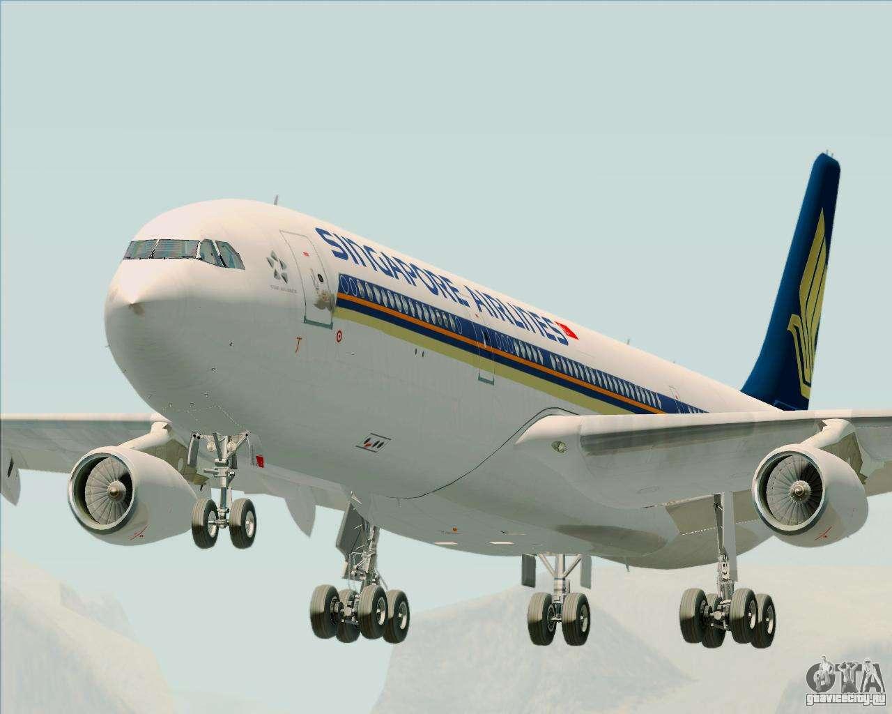 Обои авиалайнер, Singapore airlines, airbus, Самолёт, 300. Авиация foto 6