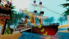Новый пиратский корабль в Лас Вентурасе для GTA San Andreas