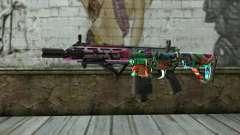 Graffiti Assault rifle v2 для GTA San Andreas