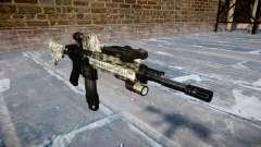 Автоматический карабин Colt M4A1 benjamins для GTA 4