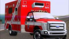 Ford F-350 Super Duty TFD Medic 1 для GTA San Andreas