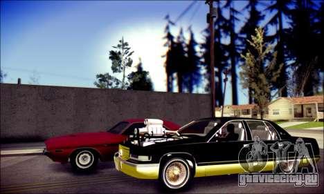Cadillac Fleetwood 1993 Lowrider для GTA San Andreas вид сзади слева