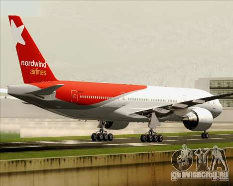 Boeing 777-21BER Nordwind Airlines для GTA San Andreas вид изнутри
