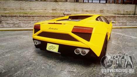 Lamborghini Gallardo 2013 Honoka Kousaka для GTA 4 вид сзади слева