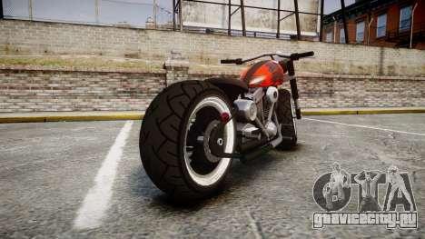 Steel Horse Zombie для GTA 4 вид сзади слева