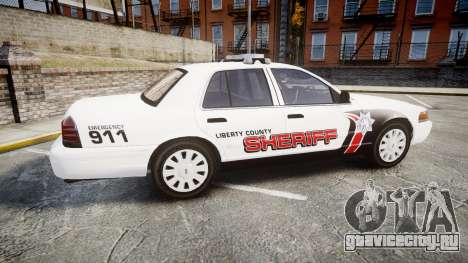 Ford Crown Victoria LC Sheriff [ELS] для GTA 4 вид слева