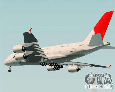Airbus A380-800 Japan Airlines (JAL) для GTA San Andreas вид сзади