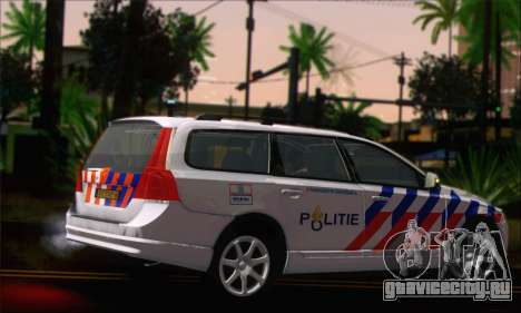 Volvo V70 LE Politie для GTA San Andreas вид слева