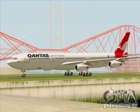Airbus A340-300 Qantas для GTA San Andreas вид сзади слева
